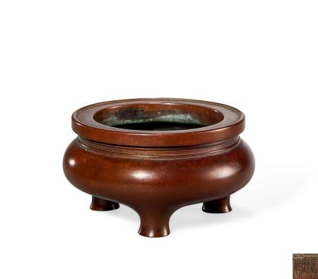 清 早期 铜 鬲式炉
