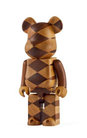 Medicom Karimoku  2016年 BE@RBRICK 400% Woven Wood 胡桃木