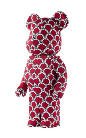Medicom KAWS  2012年 BE@RBRICK OriginalFake 六周年纪念版 红牙 PVC 织布