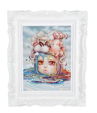 Camilla d'Errico  Fish Bowl 版上油画