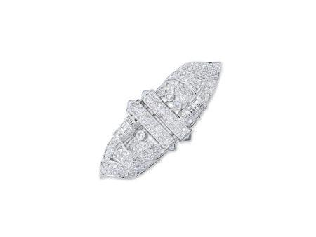 鑽石襟針或吊咀鑲18K白金