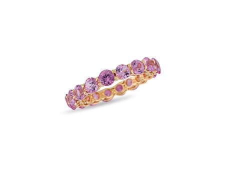 粉紅寶石戒指鑲18K黃金