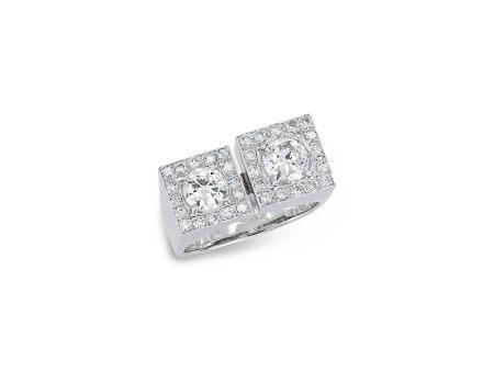 鑽石戒指鑲14K白金