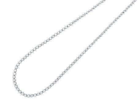 鑽石頸鍊鑲18K白金