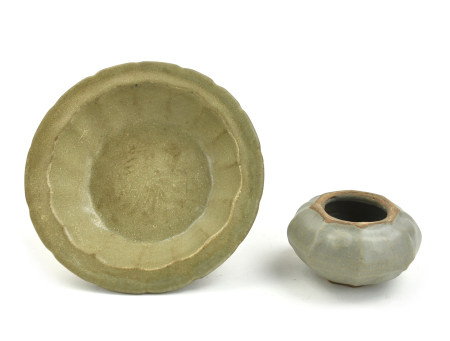 Chinese Longquan Ware Washer & Waterpot, Yuan D.