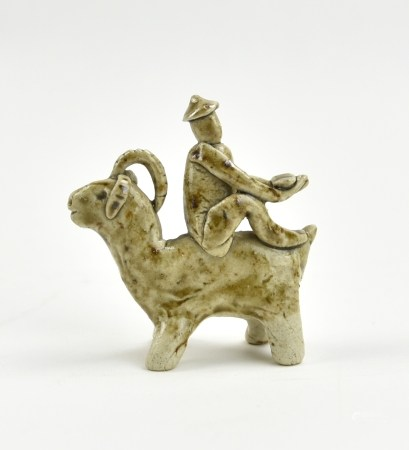 Chinese Yaozhou Ware Boy Riding Goat, Jin Dynasty