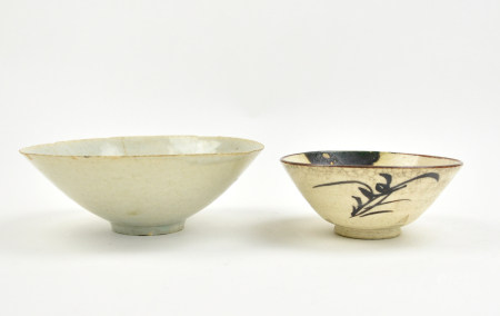Japanese Tea Bowl &Chinese Qingbai Glaze Bowl
