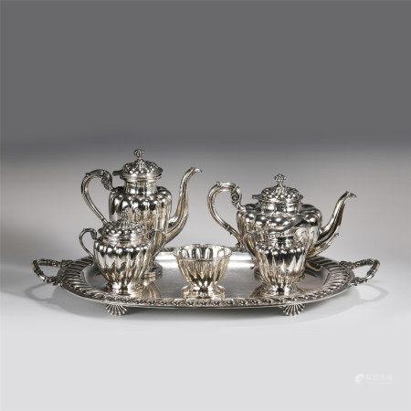A SET OF SILVERWARE TEA SETS