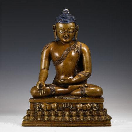 BRONZE SAKYAMUNI BUDDHA STATUE