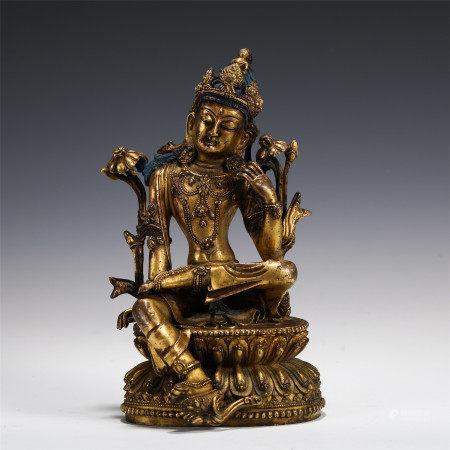 ZIZAI GUANYIN FIGURE OF THE BUDDHA STATUE MING DYNASTY