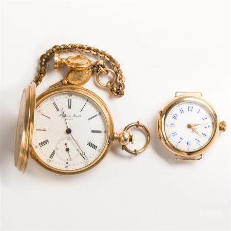 A group of Early 20th C. pocket watches, etc.
