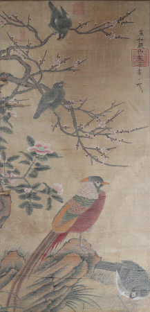A Chinese painting with birds and flowers 中国书画 花鸟