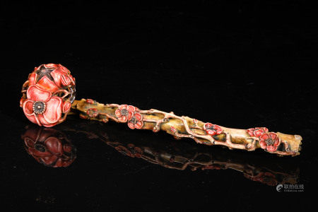 A CHINESE VINTAGE RUYI SCEPTER