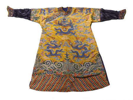 A CHINESE VINTAGE EMPEROR'S ROBE
