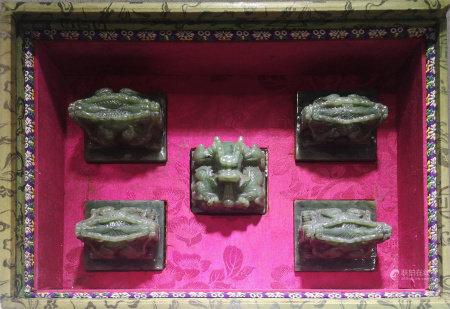 A SET OF FIVE IMPERIAL SEALS