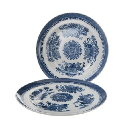PAIR OF CHINESE BLUE AND WHITE PLATES,QING DYNASTY
