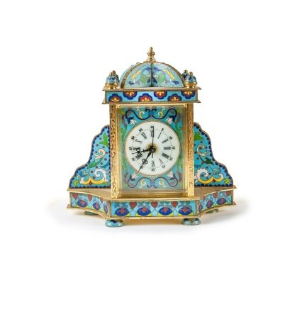CHINESE CLOISONNE MANTAL CLOCK