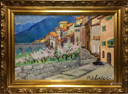 NIKOLAI MIKHAILOVICH TSVETKOV Oil painting Streets of venice