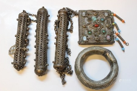 5 Pics, 19th.C Silver Plate Collections