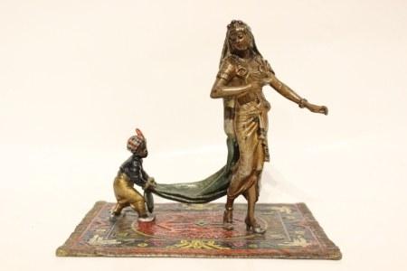 Vienna Bronze Lady and Boy