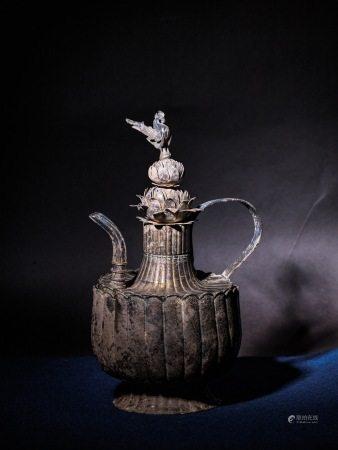 宋時代 銀溫酒壺 A Silver Vessel Pot