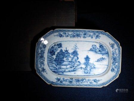 唐物 吳州染付青花皿 A Blue and White Porcelain Plate