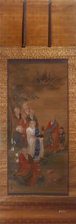 A Figure of Arhat Painting 圓山応舉 十六應真圖