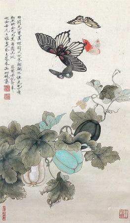 于非厂 花卉蝴蝶