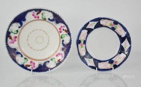 Two Russian 19th century plates; M.S Kuznetsova, 1882, 18cm diameter, together with a Dulevo ST