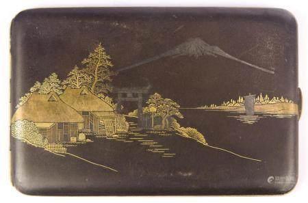 Japanese damascene card case