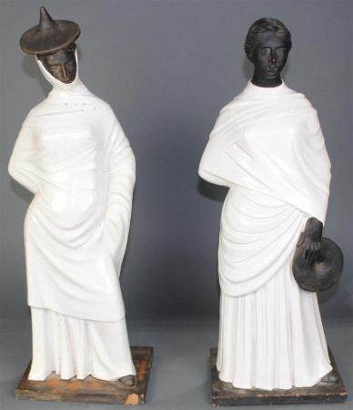 A Pair Chinese style burial figures