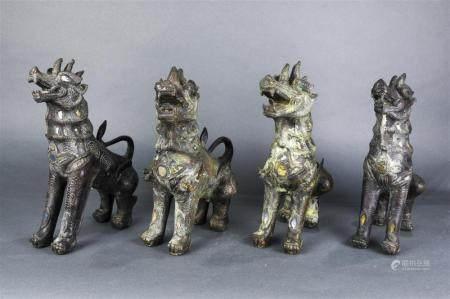 ( lot of 4) Southeast Asian Fu Lions