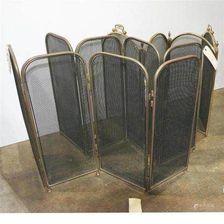(lot of 3) Fireplace screen group