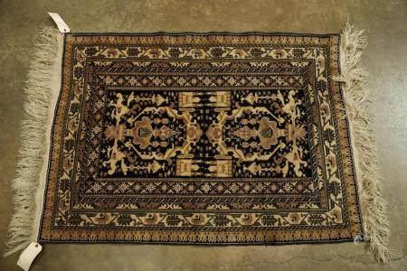 Chinese kashmiri silk carpet