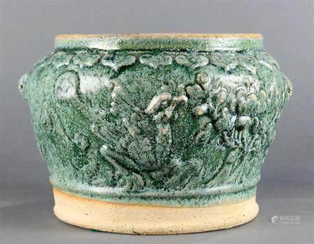 A Chinese storage jar, Han Dynasty