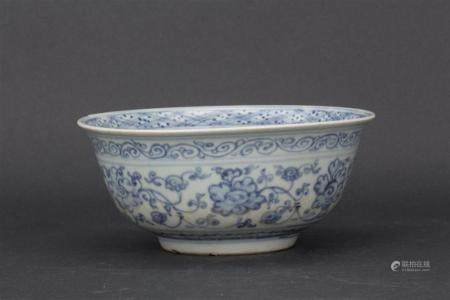 Ming style blue and white porcelain bowl