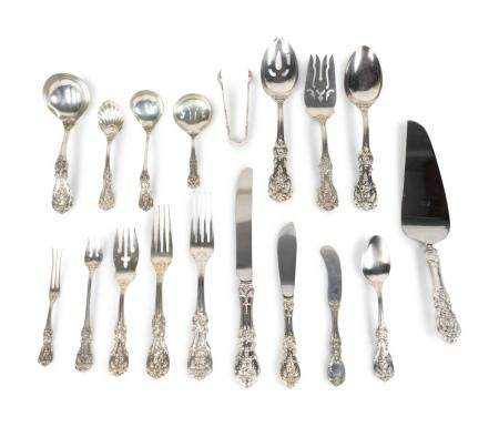 A Reed & Barton Sterling Silver Francis I pattern Flatware Service