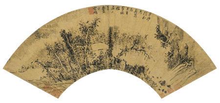 丁雲鵬 山水 1591年作