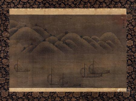林梅 行舟圖