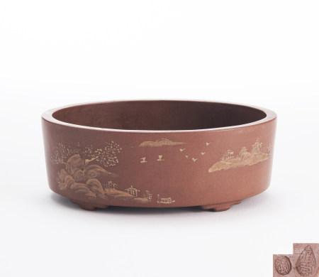 民國 紫砂花盆