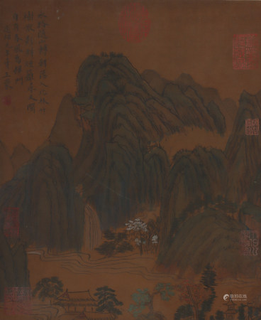 A Wang meng's landscape painting(without frame)