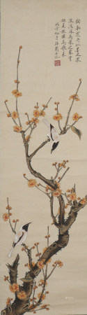A Yu feian's flowers and birds painting