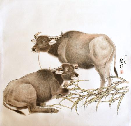 方楚雄|雙牛圖 2017年