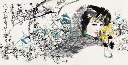 林墉|梅花仕女 1995年