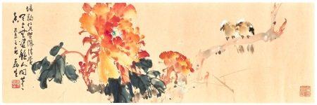 黃磊生|牡丹小鳥 1979年