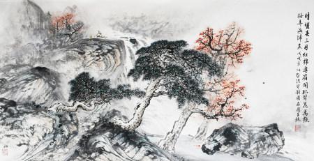 林再圓|晴暖春三月紅棉粵嶺開 2018年