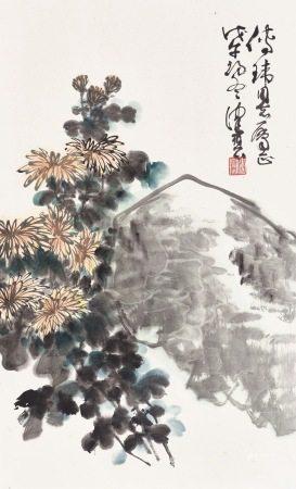 陳佩秋 | 菊石圖 1978年