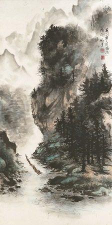 黎雄才 煙雲渡江 1988年