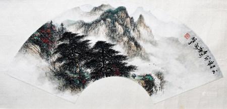 黎雄才 松樹 1977年
