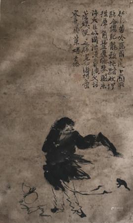 明代 徐渭 刘海戏金蟾